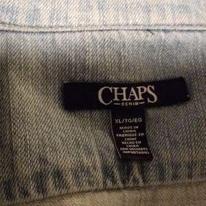 Chaps XL light denim vest
